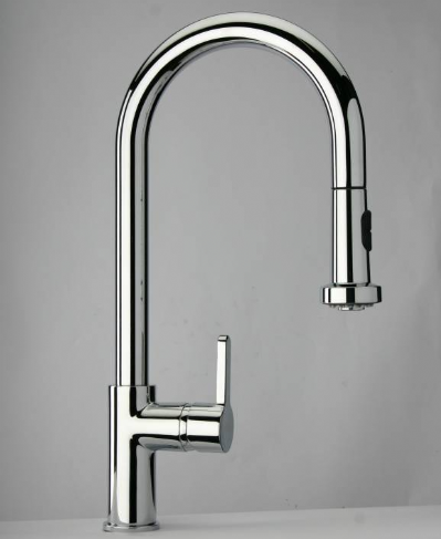Modern Pull Out Spray Chrome Kitchen Sink Mixer Tap - 5892557M